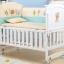 B10142 เตียงนอนเด็กไม้สีขาว (WW1) รุ่นอเนกประสงค์ปรับใช้ได้หลายฟังชันส์ thumbnail 10
