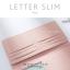 กระเป๋าสตางค์ผู้หญิง ใบยาว แบบบาง เรียบ รุ่น LETTER SLIM thumbnail 8