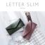 กระเป๋าสตางค์ผู้หญิง ใบยาว แบบบาง เรียบ รุ่น LETTER SLIM thumbnail 3