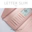 กระเป๋าสตางค์ผู้หญิง ใบยาว แบบบาง เรียบ รุ่น LETTER SLIM thumbnail 10