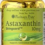 ต้านอนุมูลอิสระ Puritan's Pride Natural Astaxanthin 10 mg 30 Softgels