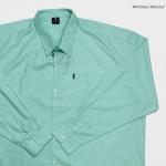 เสื้อสีพื้น ผ้า oxford 2XL , 3XL , 4XL , 5XL สีเขียว