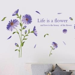 """สินค้าล้างสต็อก ลดราคา 50% """"Life is a Flower"""" ความสูง 80cm ยาว 150cm"""