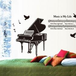"""สินค้าล้างสต็อก ลดราคา 50% """"Music is my Life"""" ความสูง 80cm กว้าง 130cm"""