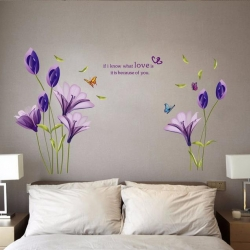 """สินค้าล้างสต็อก ลดราคา 50% """"Purple Lilly"""" ความสูง 143cm ยาว 180cm"""