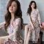 ชุดเดรสยาวชีฟอง ลายดอกFlora Premium Dress thumbnail 1