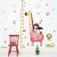 """สติ๊กเกอร์ติดผนัง ที่วัดส่วนสูง """"เด็กผู้หญิงกับยีราฟ"""" สเกลเริ่มต้น 60cm ถึง 180cm thumbnail 2"""