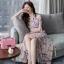 ชุดเดรสยาวชีฟอง ลายดอกFlora Premium Dress thumbnail 3