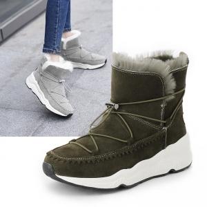 SH_1623 (pre-order) รองเท้าบู๊ทผ้าใบ บุเฟอร์ สูง 5cm ใส่เที่ยวเมืองนอก, 2017, Shoes, Grey-Black-Green-BeigeBrown Caramel, Size 35-36-37-38-39-40