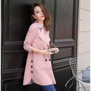 CO_7937 (pre-order) เสื้อกันหนาว เสื้อโค้ท, 2017, Winter, Grey, Pink, Nude, M-L-XL-2XL