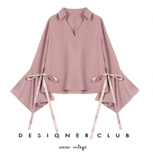 BL_5005 (pre-order) เสื้อเชิ้ตแขนยาวสีชมพูกะปิ แฟชั่นเกาหลี, 2017, Top, Pink, S-M-L