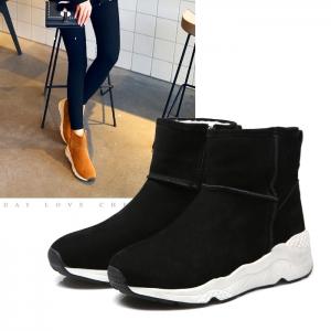 SH_1615 (pre-order) รองเท้าลุยหนาวลุยหิมะ หนังแกะ ใส่เที่ยวเมืองนอก, 2017, Shoes, Black-BeigeBrown-Grey, Size 35-36-37-38-39-40