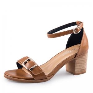 SH_1642 (pre-order) รองเท้า Sandals สีน้ำตาลเบจ สูง 6.5cm เปิดส้น-รัดข้อ, 2017, Shoes, BeigeBrown, Size 34-35-36-37-38-39