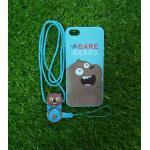 TPU moomin พร้อมสาย iphone6/6s ลายหมีน้ำตาลสีฟ้า