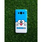 TPU ลายเส้นนูนแมวสีฟ้าตาโต J5 (2016)