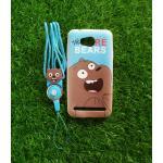 TPU moomin พร้อมสาย Huawei Y3II(Y32) ลายหมีน้ำตาลสีฟ้า