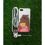 TPU moomin พร้อมสาย iphone6/6s ลายหมีน้ำตาลสีขาว