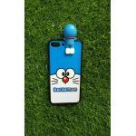 TPU ลายเส้นนูนแมวสีฟ้าตาโตเกาะหลัง iphone7 plus/iphone8 plus(ใช้เคสตัวเดียวกัน)