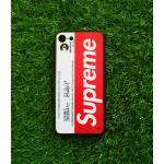 TPU ลายเส้นนูน superme สีขาว/แดง iphone7/iphone8(ใช้เคสตัวเดียวกัน)