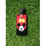 TPU ลายเส้นนูนหนูสีดำ/แดงเกาะหลัง iphone5/5s/se