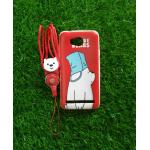 TPU moomin พร้อมสาย Huawei Y3II(Y32) ลายหมีขาวสีแดง