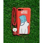 TPU moomin พร้อมสาย iphone7 plus/iphone8 plus(ใช้เคสตัวเดียวกัน) ลายหมีขาวสีแดง