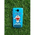 TPU ลายเส้นนูนแมวสีฟ้าเต็มตัว Huawei Y3II(Y32)