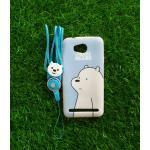 TPU moomin พร้อมสาย Huawei Y3II(Y32) ลายหมีขาวสีฟ้า