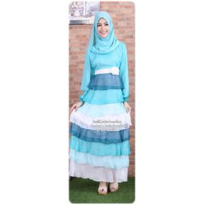 ☆ ✧ Colourful Layered Chiffon Dress✧ ☆Light Blue