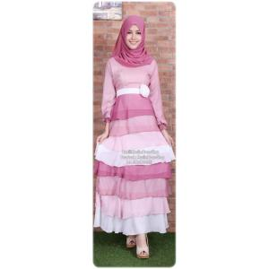 ☆ ✧ Colourful Layered Chiffon Dress✧ ☆Pink