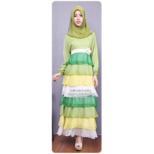 ☆ ✧ Colourful Layered Chiffon Dress✧ ☆Light Green