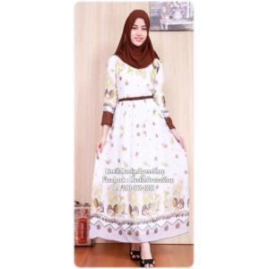 ☆ ✧ Floral Printed Chiffon Dress ✧BROWN
