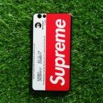TPU ลายเส้นนูน superme สีขาว/แดง VIVO V5(Y67)/V5S/V5 Lite(ใช้เคสตัวเดียวกัน)