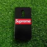TPU ลายเส้นนูน superme สีดำ Redmi Note4