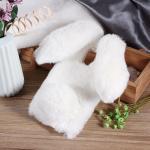 เคสซัมซุง a8 2018 เคสนิ่มขนกระต่ายฟูน่ารักมุ้งมิ้งสีขาว