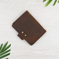 กระเป๋าเก็บนามบัตร หนังวัวแท้ สีน้ำตาล