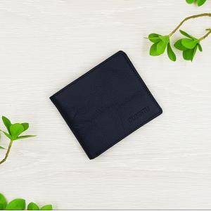 กระเป๋าสตางค์หนังแท้ ทรงสั้น สีดำ