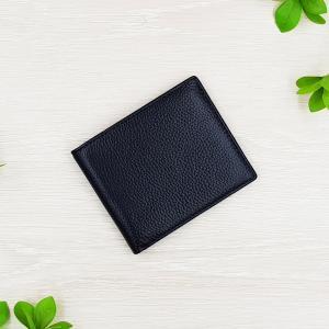 กระเป๋าสตางค์หนังแท้ ทรงสั้น สีดำ บาง พกพาสะดวก