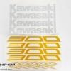 สติ๊กเกอร์ขอบล้อใน สีเหลือง ขาว FOR KAWASAKI Z300