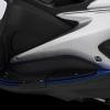 แผ่นวางเท้าพร้อมกันล้มด้านข้าง BIKERS สีน้ำเงิน FOR YAMAHA AEROX155