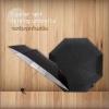 Hipster UV Folding Umbrella ร่มพับ 3ตอน เคลือบเงิน กันแดด กันยูวี กันฝน ทันสมัย-ดำ