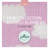 Jollein - Knitted Cloud pink ผ้าห่มไหมพรมสุดนิ่ม ลายก้อนเมฆชมพู