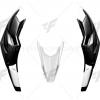 ปากนกพร้อมกาบข้างไฟตาแมว MOTOZAAA ดำด้าน ขาว FOR HONDA CB500X 2016