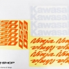 สติ๊กเกอร์ขอบล้อใน สีส้ม ขาว FOR KAWASAKI NINJA650