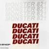 สติ๊กเกอร์ขอบล้อใน สีแดง ขาว FOR DUCATI MONSTER 821