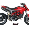ท่อ SC PROJECT OVAL SILENCER - HIGH POSITION FOR HYPERMOTARD 821