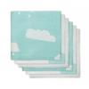 Jollein - Diaper Cloud jade ผ้าอ้อมลายก้อนเมฆเขียว เซต 6 ผืน size 70x70 cm.