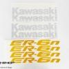 สติ๊กเกอร์ขอบล้อใน สีเหลือง ขาว FOR KAWASAKI ER6N