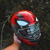 หมวกกันน็อค HJC SPIDER MAN CS-R3 MC-1 สีแดง น้ำเงิน