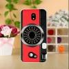เคสซัมซุง j7 pro พลาสติกแข็งลายกล้องคอมแพคสีแดง